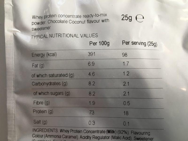 マイプロテイン チョコレートココナッツ味 インパクトホエイ